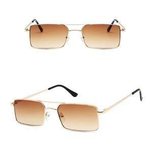 Retro Square Aviators Vintage Style Sunglasses TEA